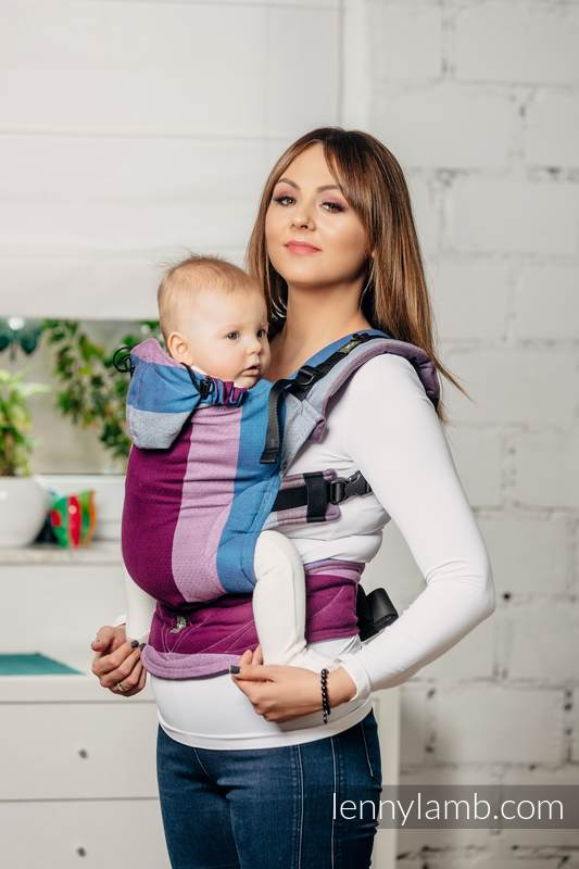 e08ceb3c74c Lenny Lamb Ergonomic Carrier Baby Size Norwegian Diamond – Gwisk Lowen