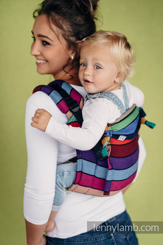 bd92abcf521 Lenny Lamb Onbuhimo Buckle Carrier Toddler Size In Carousel of Colours –  Gwisk Lowen